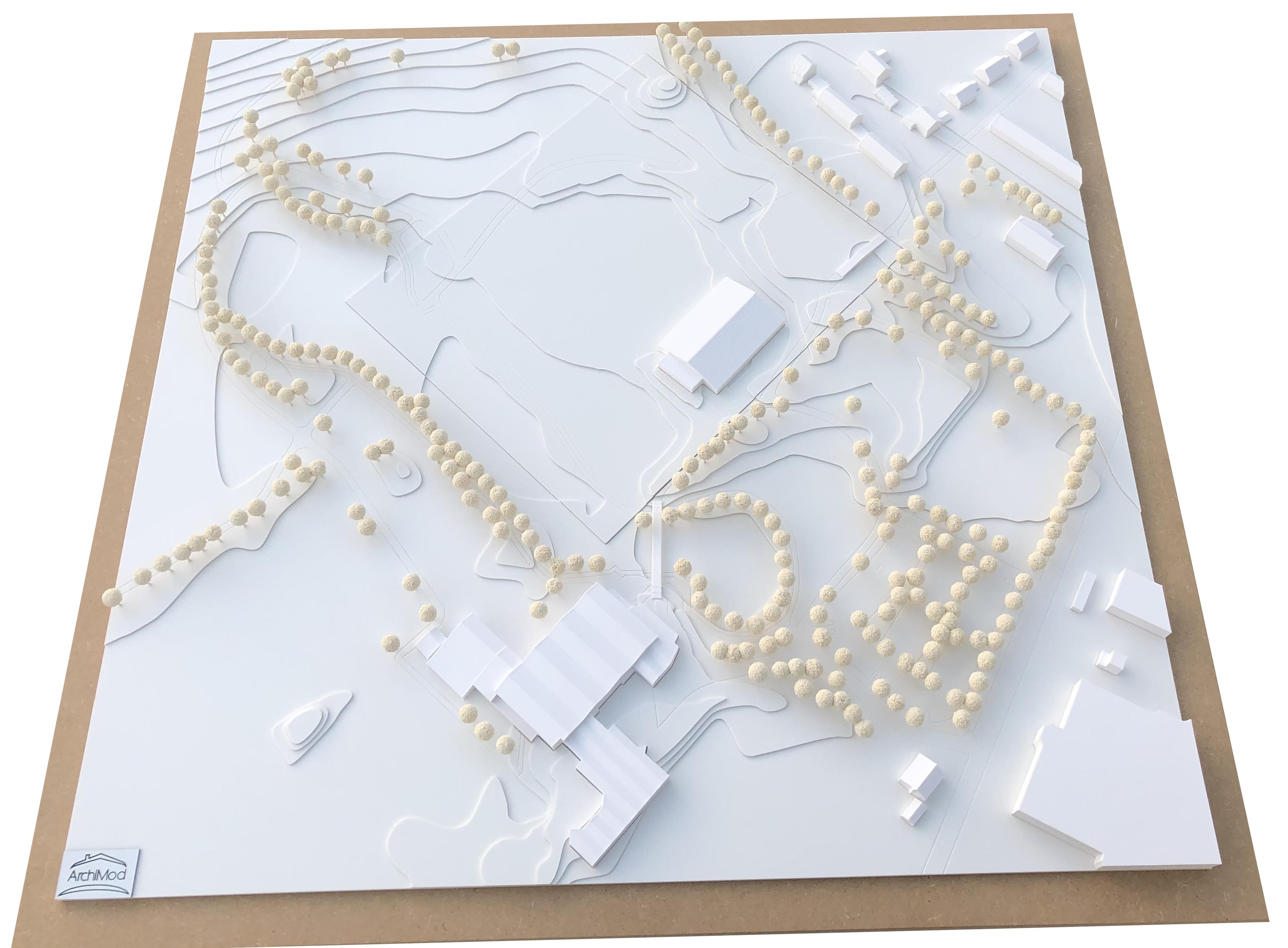 Umgebungsmodell inkl. 21 Einsatzplatten im Maßstab 1:500
